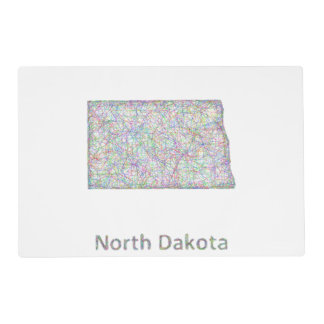 North Dakota map Placemat