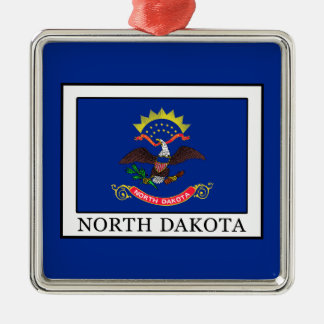 North Dakota Metal Ornament