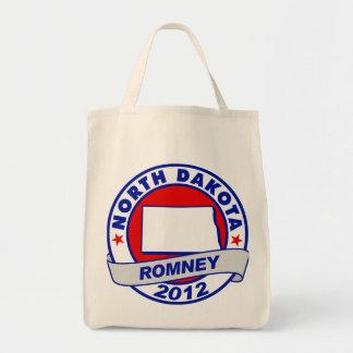 North Dakota Mitt Romney Canvas Bags