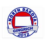 North Dakota Newt Gingrich Post Card