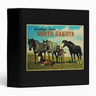 North Dakota Nokota Horses 3 Ring Binder