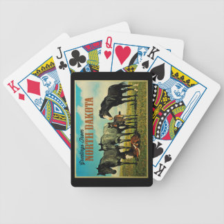 North Dakota Nokota Horses Bicycle Playing Cards