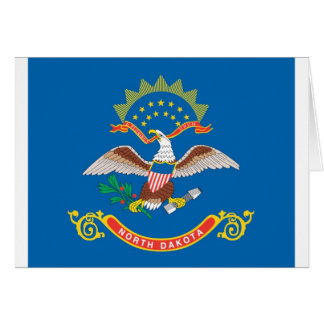 North Dakota  Official State Flag Card