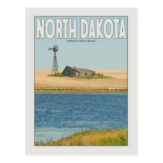 North Dakota - Old Farmstead - White Postcard