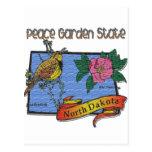 North Dakota Peace Garden State Lark Rose Postcard
