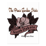 North Dakota Peace Garden State Prarie Rose Post Cards