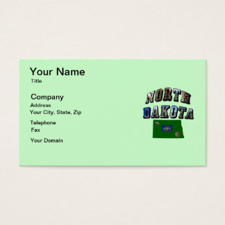 North Dakota Picture Text Business Card