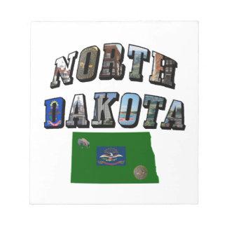 North Dakota Picture Text Note Pad
