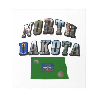 North Dakota Picture Text Notepad
