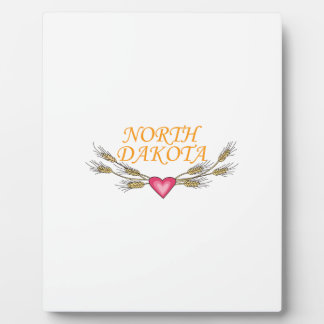 North Dakota Display Plaque