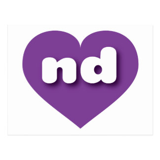 North Dakota purple heart - mini love Postcard