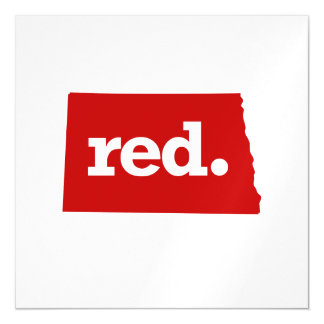 NORTH DAKOTA RED STATE MAGNETIC CARD