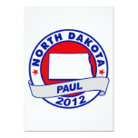 "North Dakota Ron Paul 5"" X 7"" Invitation Card"
