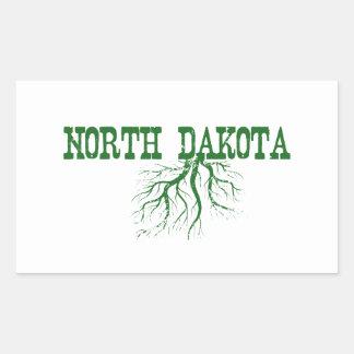 North Dakota Roots Rectangular Sticker