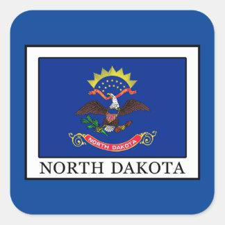 North Dakota Square Sticker
