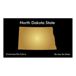 North Dakota State Business Card Metallic Gold
