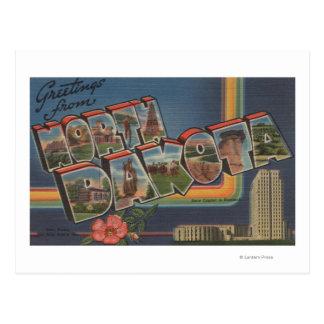 North Dakota (State Capital/Flower) Postcard