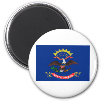 North Dakota State Flag 2 Inch Round Magnet