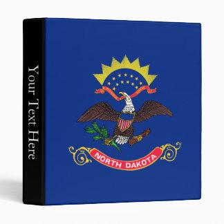 North Dakota State Flag 3 Ring Binder