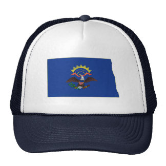 North Dakota State Flag and Map Trucker Hats