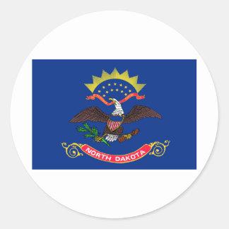 North Dakota State Flag Classic Round Sticker
