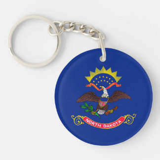 North Dakota State Flag Design Keychain