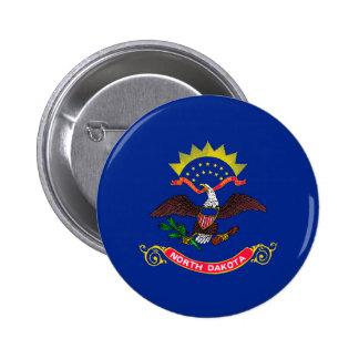 North Dakota State Flag Design Pinback Button