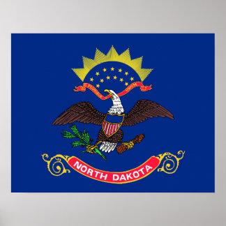 North Dakota State Flag Poster