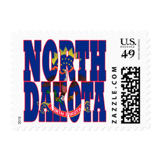 North Dakota state flag text Postage