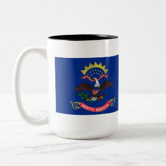 North Dakota State Flag Two-Tone Coffee Mug