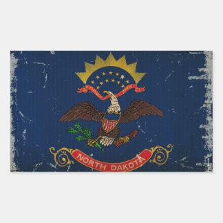 North Dakota State Flag VINTAGE. Rectangular Sticker
