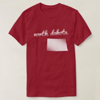 North Dakota state in white T-Shirt
