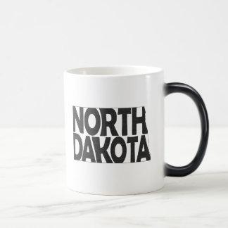 North Dakota State Name Word Art Black Magic Mug