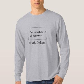 North Dakota state of happiness t-shirt map