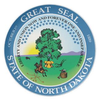North Dakota state seal america republic symbol fl Melamine Plate