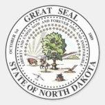 North Dakota State Seal Classic Round Sticker