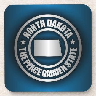 North Dakota Steel (Blue) Beverage Coasters