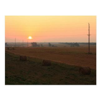 North Dakota Sunrise Postcard