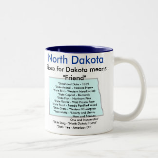 North Dakota Symbols & Map Mug