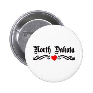 North Dakota Tattoo Pin