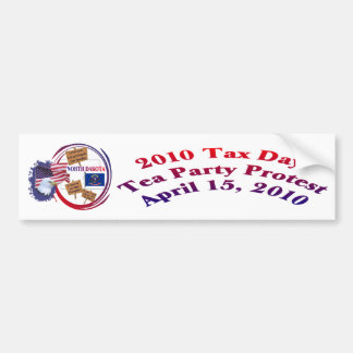 North Dakota Tax Day Tea Party Protest Bumper Sticker