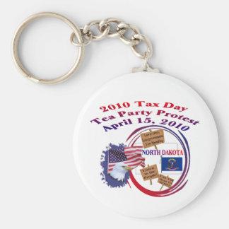 North Dakota Tax Day Tea Party Protest Keychain