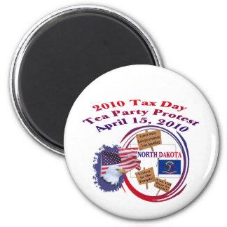 North Dakota Tax Day Tea Party Protest Magnet