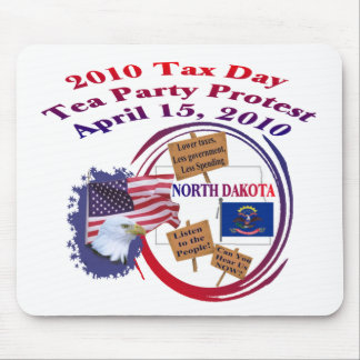 North Dakota Tax Day Tea Party Protest Mouse Pad