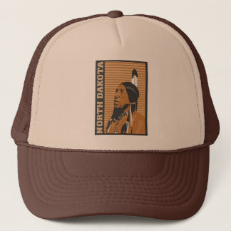 North Dakota Travel Design Trucker Hat