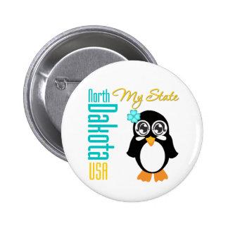 North Dakota USA Penguin Pins