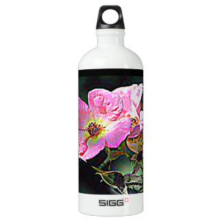 North Dakota Wild Rose Aluminum Water Bottle