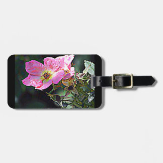 North Dakota Wild Rose Tags For Bags
