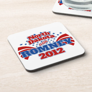 North Dakota with Romney 2012 Beverage Coaster