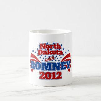 North Dakota with Romney 2012 Coffee Mug